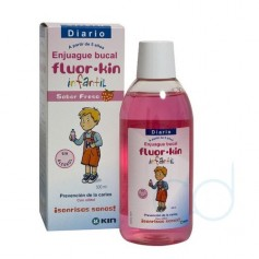 FLUOR KIN INFANTIL ENJUAGUE BUCAL - (FRESA 500 ML)