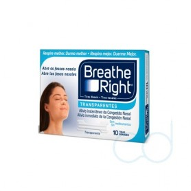 BREATHE RIGHT - TIRA ADH NASAL (TRANSP T- GDE 10 U)