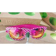 GAFAS DE SOL NIÑO IAVIEW WAY HEARTS PINK MIRROR
